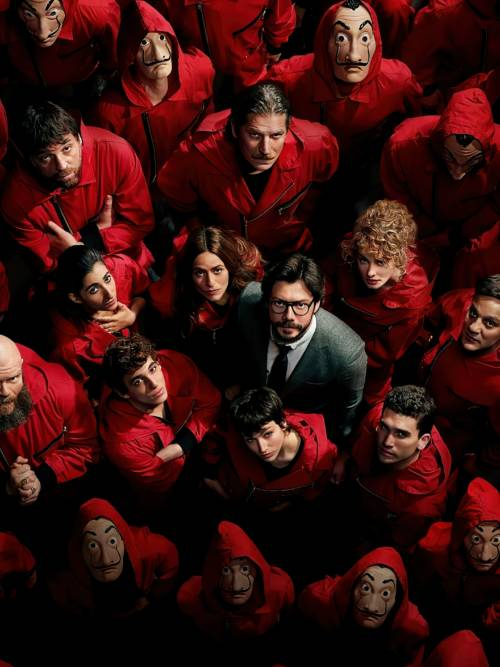 Actors of Money Heist wallpaper