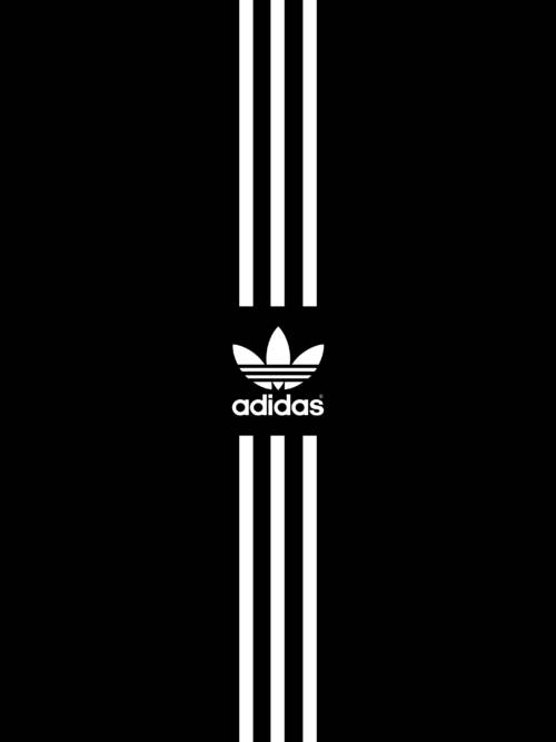 Fond d'écran de Adidas noir pour mobiles et tablettes