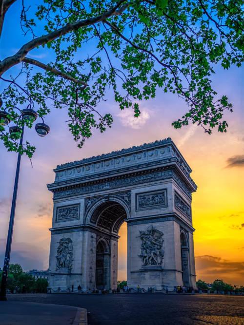 Papel de parede do Arco do Triunfo em Paris para celulares e tablets