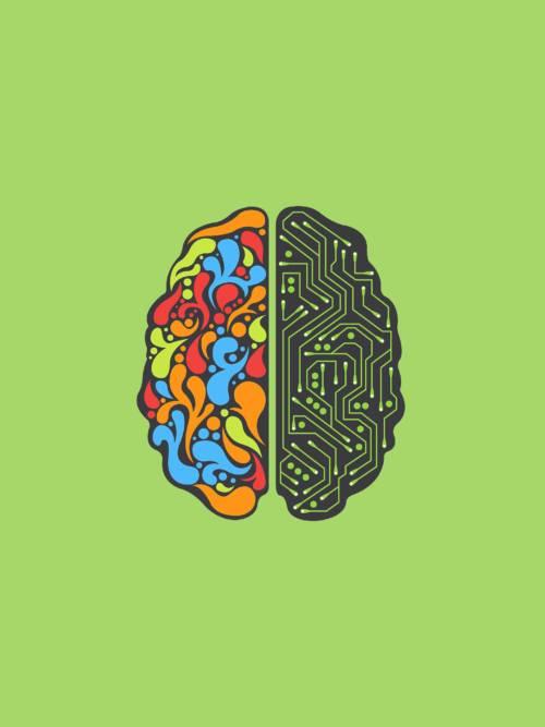 Fondo de pantalla de Cerebro de inteligencia artificial