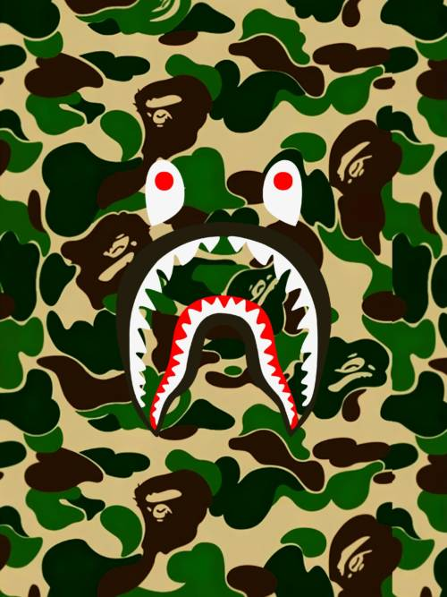 BAPE Camouflage Shark wallpaper