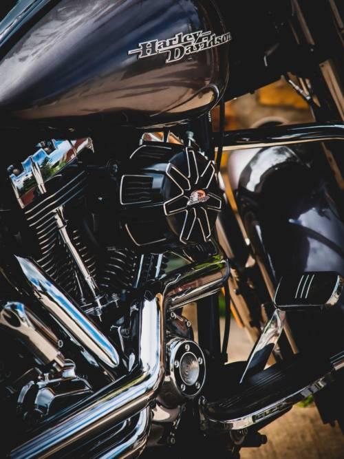 Schwarzer Harley-Davidson-Motor wallpaper
