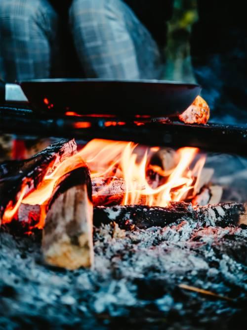 Bonfire at camp wallpaper