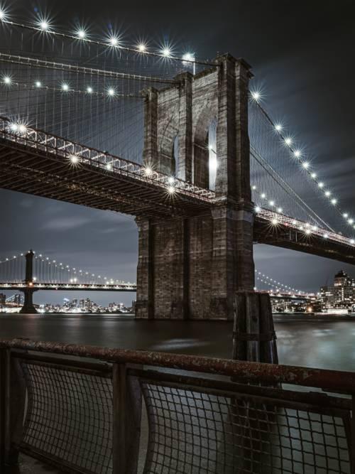 Fondo de pantalla de Puente de Brooklyn de noche