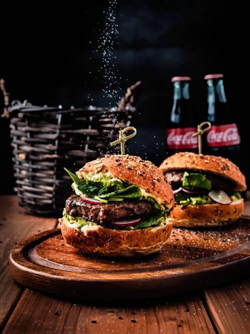 Fond d'écran de Burger et Coca pour mobiles et tablettes