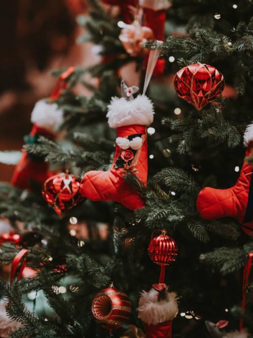 Fond d'écran de Décoration d'arbre de Noël