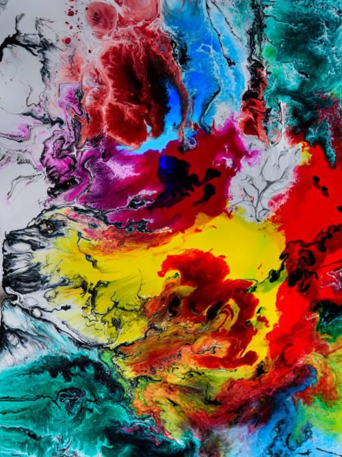 Buntes Gemälde Wallpaper für Handys und Tablets