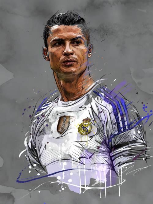 Fondo de pantalla de Dibujo de Cristiano Ronaldo