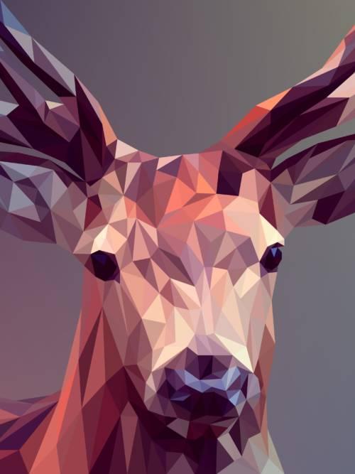 Deer vector wallpaper