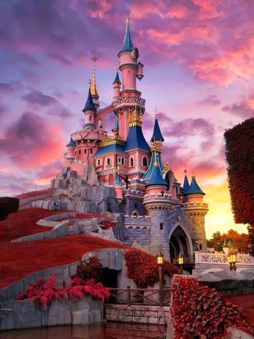 Disneyland Paris Schloss Wallpaper für Handys und Tablets