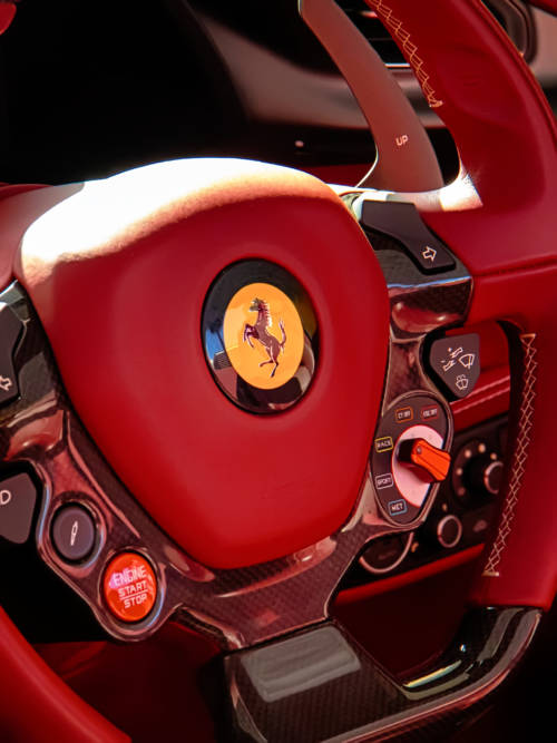 Ferrari steering wheel wallpaper