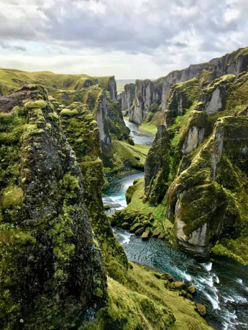Fjaðrárgljúfur schlucht wallpaper