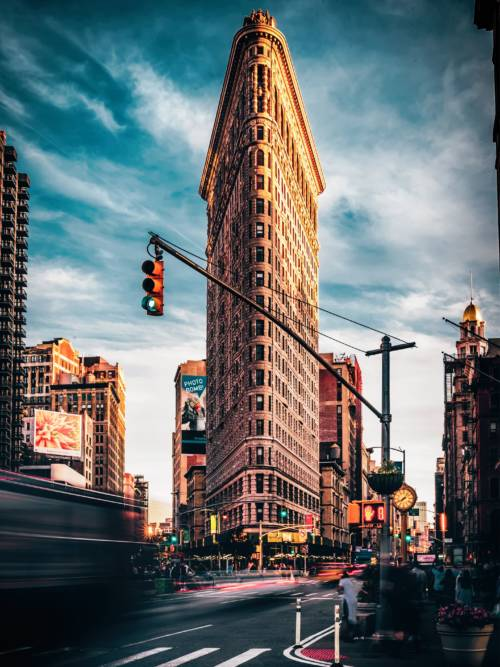 Gebäude Flatiron in New York wallpaper