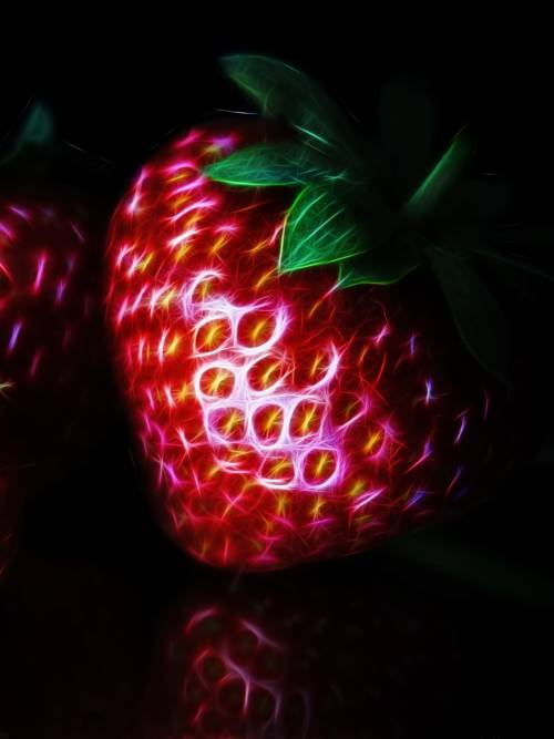 Fractal strawberry wallpaper