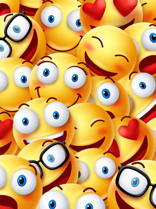 Funny emojis wallpaper for mobiles and tablets