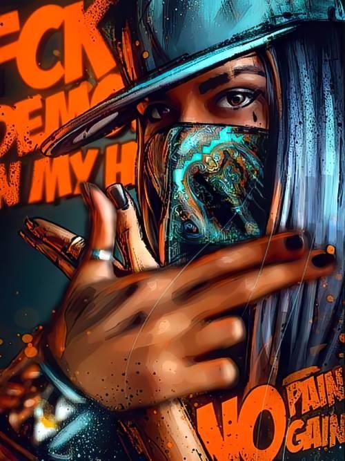 Fond d'écran de Gangsta fille