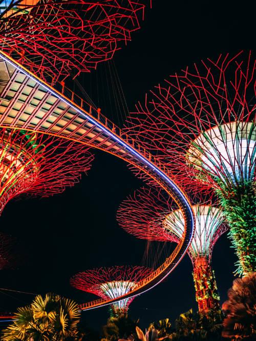 Papel de parede do Jardim junto à baía em Singapura para celulares e tablets