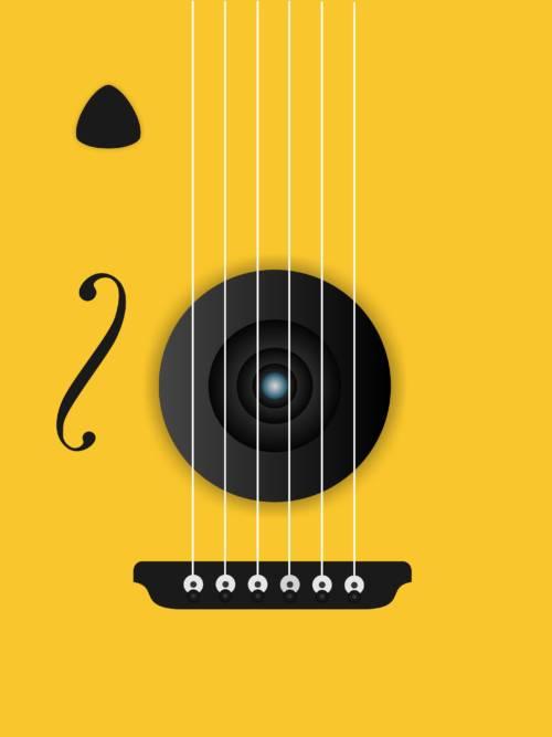 Gitarren-Vektor wallpaper
