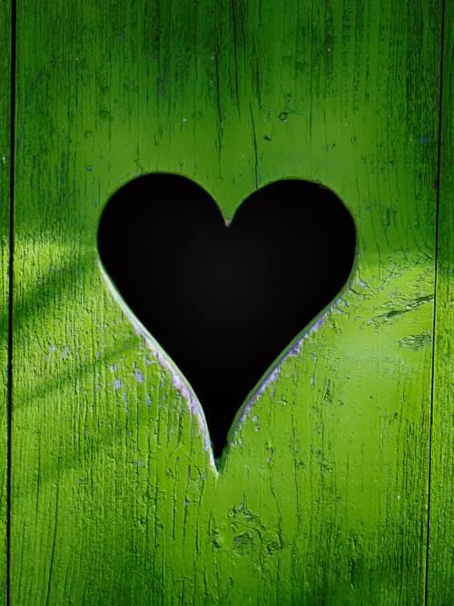 Fondo de pantalla de Corazón en madera