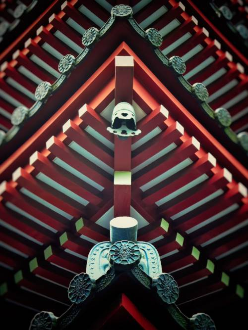 Heian shrine roof wallpaper