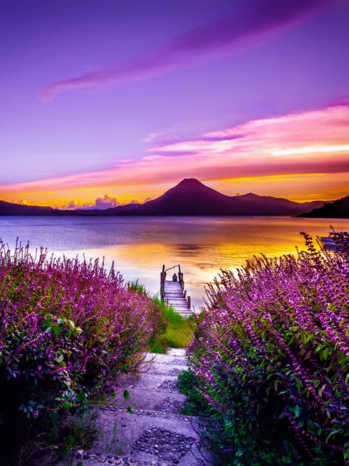 Fond d'écran de Lac Atitlán au Guatemala