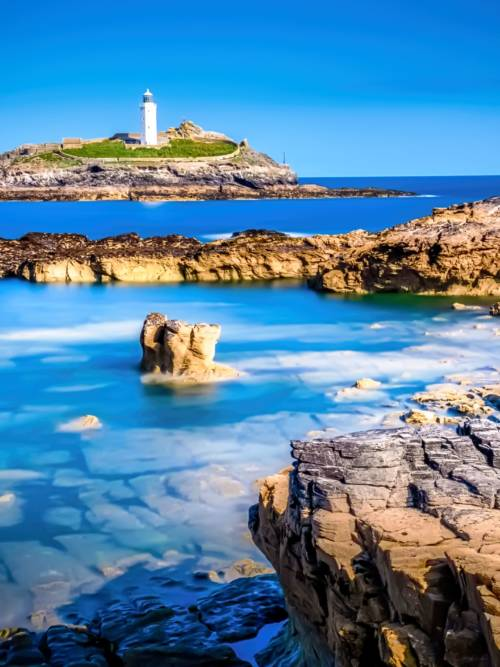 Leuchtturm in Godrevy Island wallpaper