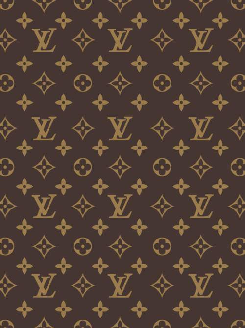 Fond d'écran de Motif marron Louis Vuitton