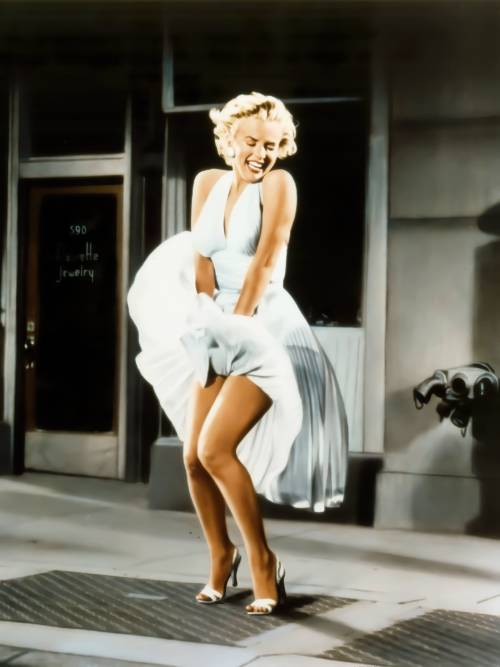 Marilyn Monroe weißes Kleid wallpaper