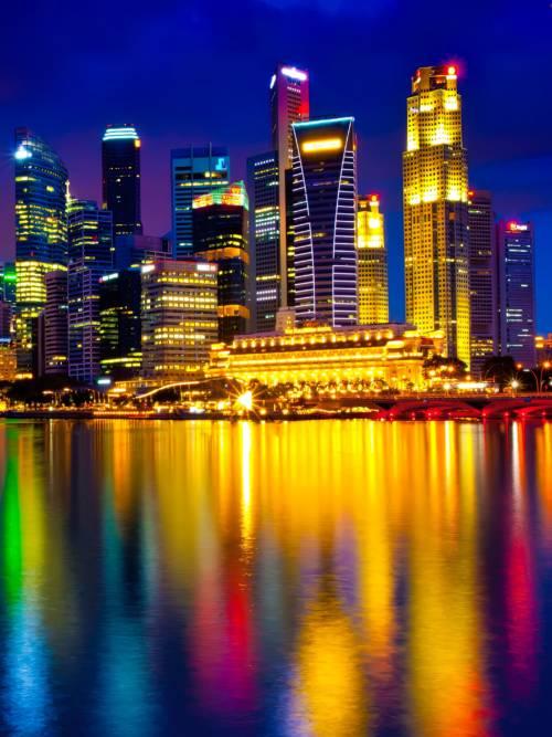 Fond d'écran de Merlion Park à Singapour