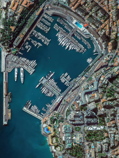 Monaco aerial view wallpaper