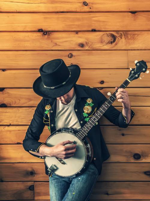 Musiker spielt das Banjo wallpaper