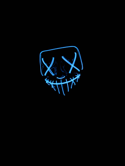 Neon LED Maske wallpaper