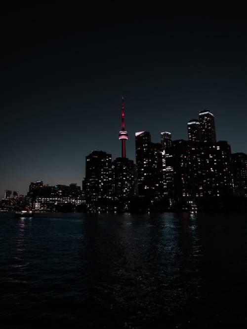 Fondo de pantalla de Horizonte de la noche