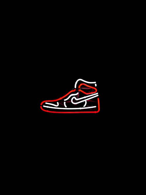 Nike Air Jordan neon wallpaper