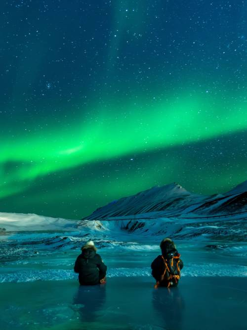 Papel de parede de Aurora boreal