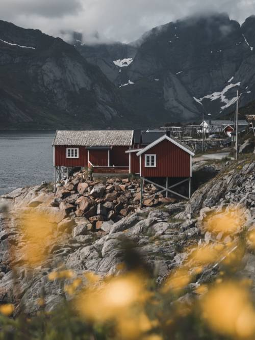 Norwegen See wallpaper