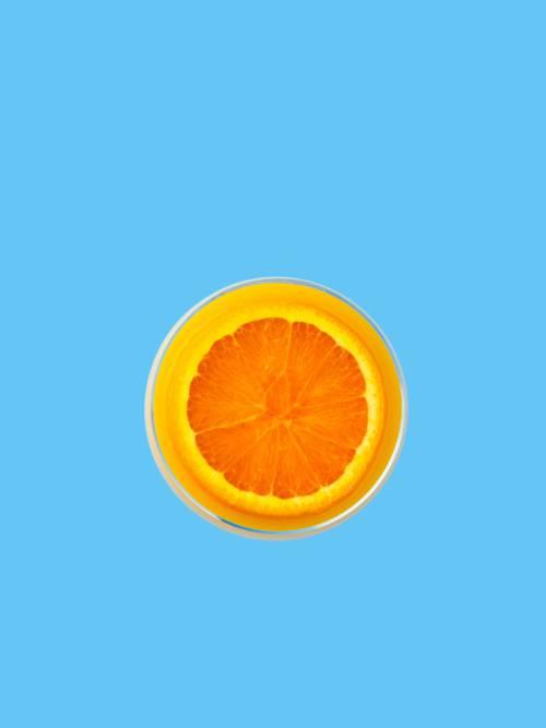 Papel de parede de Fatia de laranja