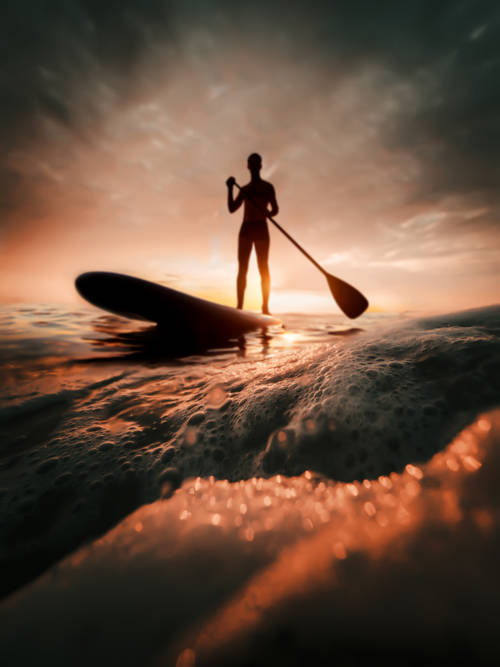 Paddle surf wallpaper