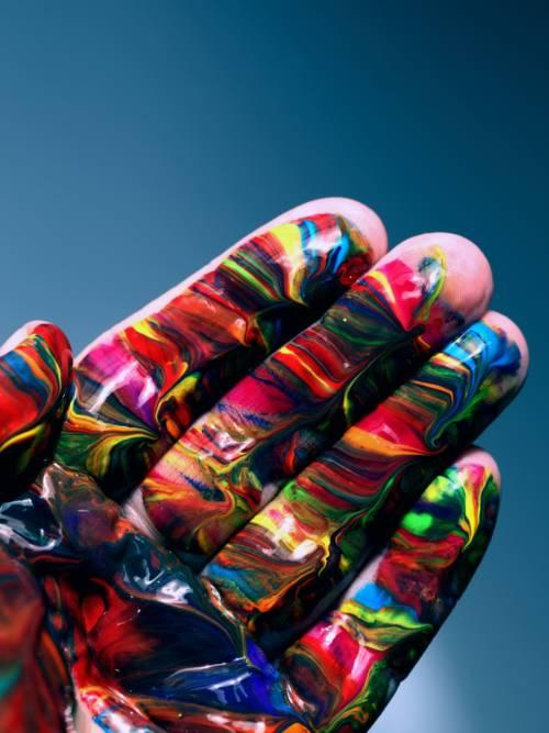 Papel de parede do Mão pintada para celulares e tablets
