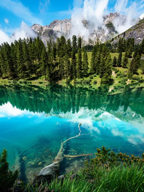 Fond d'écran de Lac de Palpuogna en Suisse