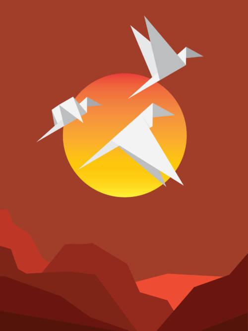 Fondo de pantalla de Pájaros de papel