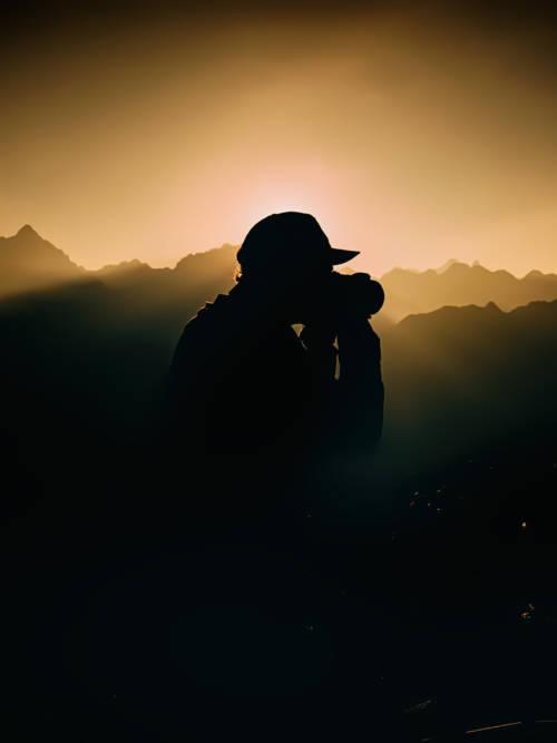 Fond d'écran de Silhouette de photographe