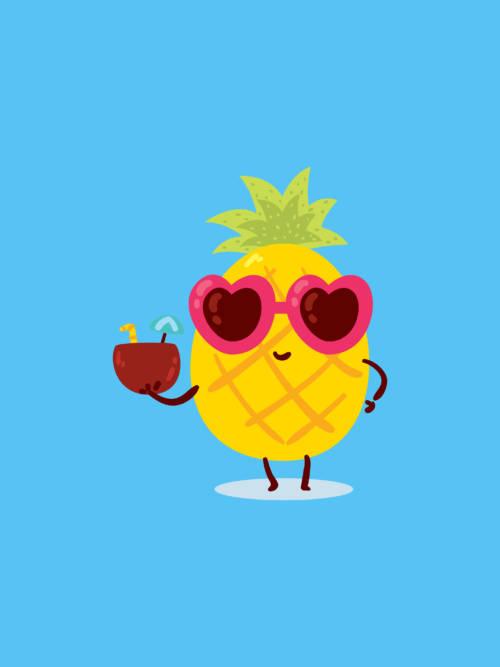 Pineapple vector wallpaper