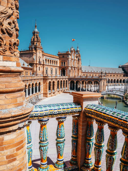 Fondo de pantalla de Plaza de España en Sevilla