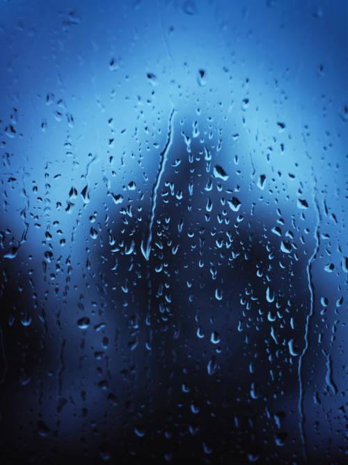 Raindrops on glass wallpaper