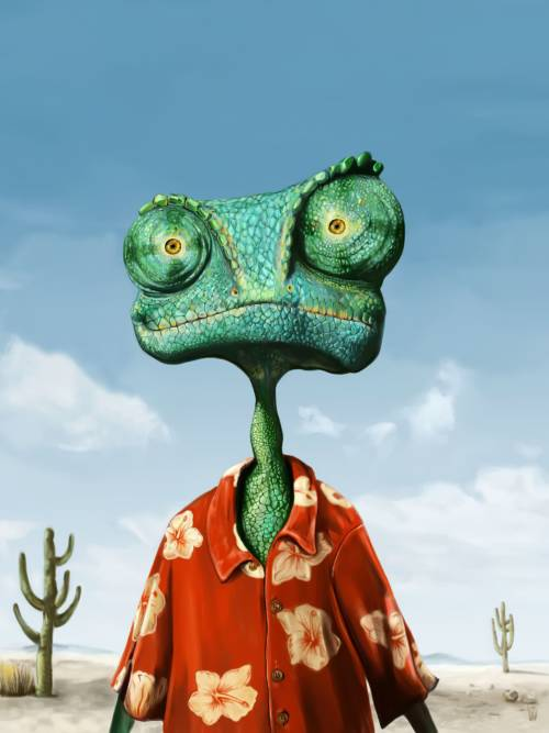 Rango the chameleon wallpaper