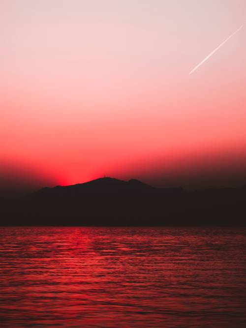 Red sunset wallpaper