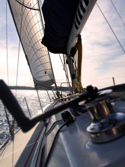 Sailboat sailing wallpaper for mobiles and tablets
