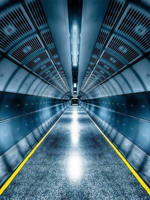 U-Bahn-Tunnel wallpaper