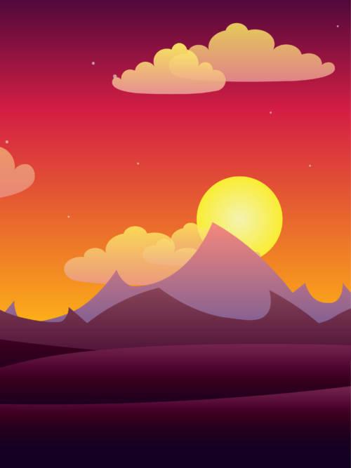 Sunset vector wallpaper
